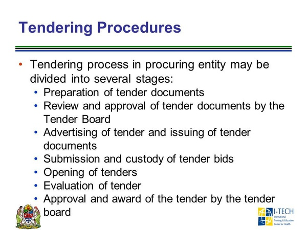 Tips on how the tender process works picture