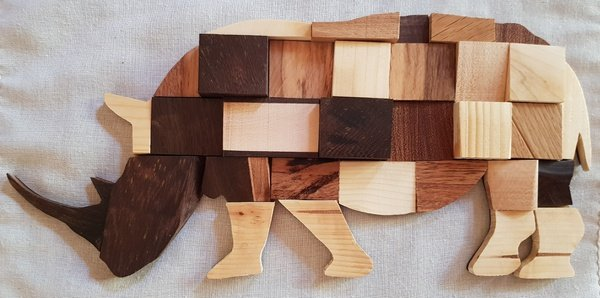 African art - rhino picture
