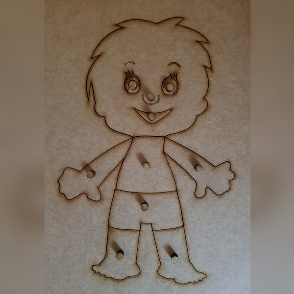 My body puzzle-boy (a4-with frame) picture