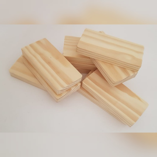 Flat wooden blocks (weight 1034g) picture