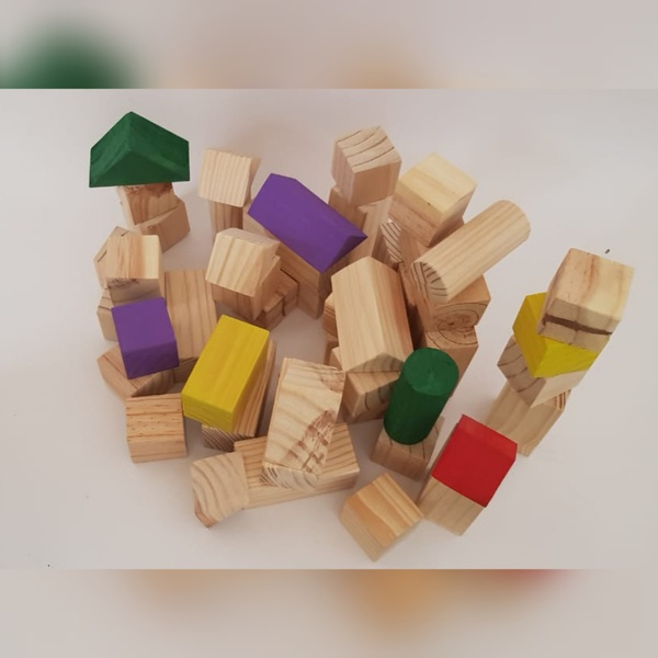 Medium building blocks (set of 70) (weight 3630g) picture