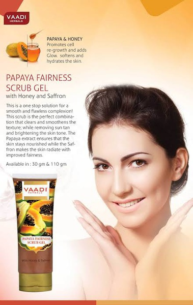 Papaya fairness scrub gel picture