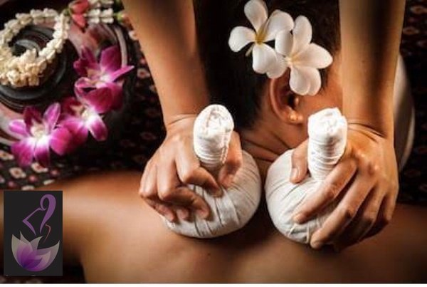 Thai Herbal compress massage picture