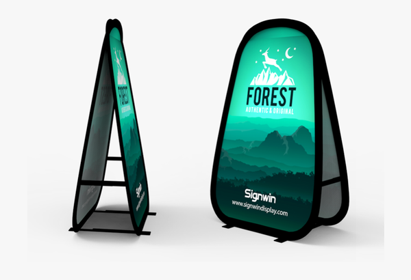Vertical pop up banner picture