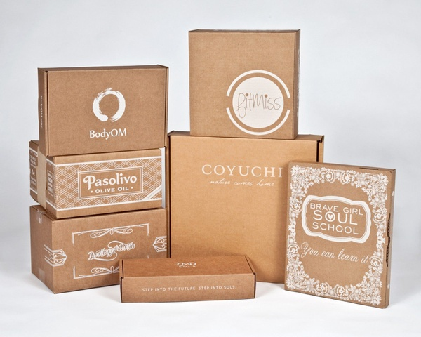 500 custom product boxes - kraft picture