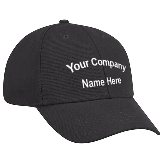 Pocket size name on cap picture