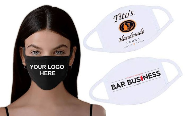 Branded cloth face mask picture