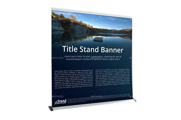 Wide pull up banner picture