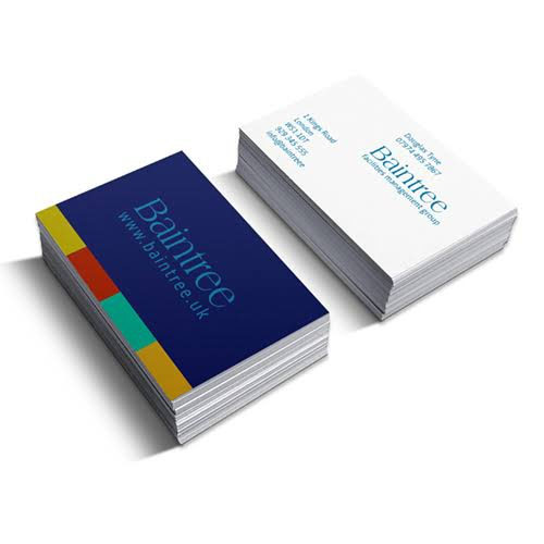 100 business cards picture