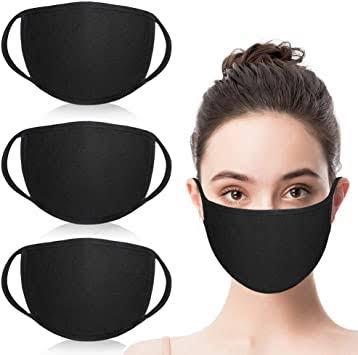 Plain cloth face mask picture