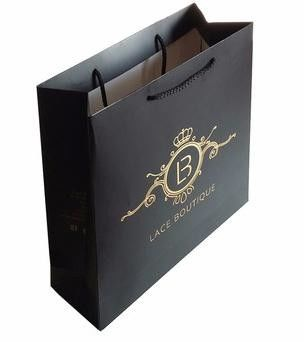 200 custom printed paper shopping bags - with handles picture