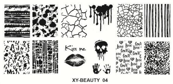 Stamping image plate xy beauty 04 picture