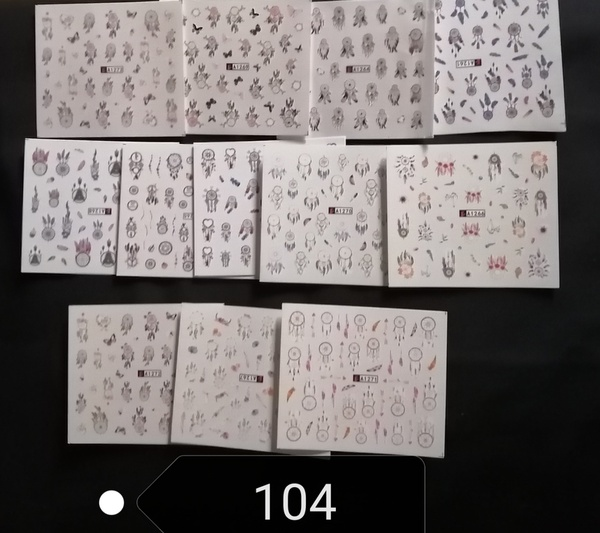 12 pcs water transfer stickers no 104 picture