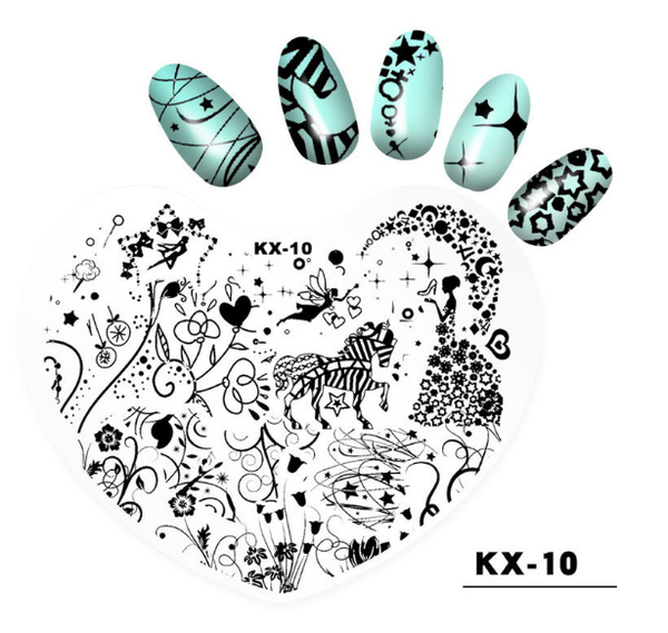 Plastic heart image plates kx10 picture