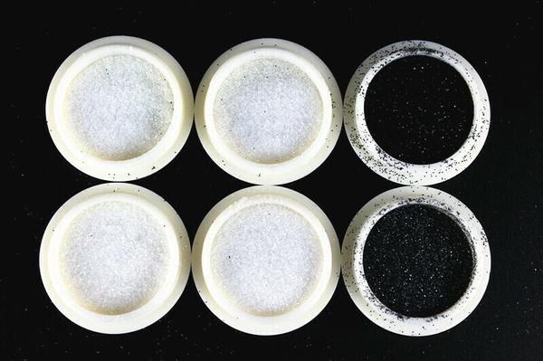 6 pcs white / black fine glitter picture