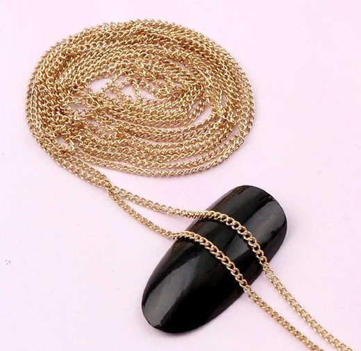 Nail chains gold 1 m picture
