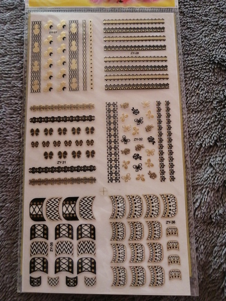Nail art stickers picture