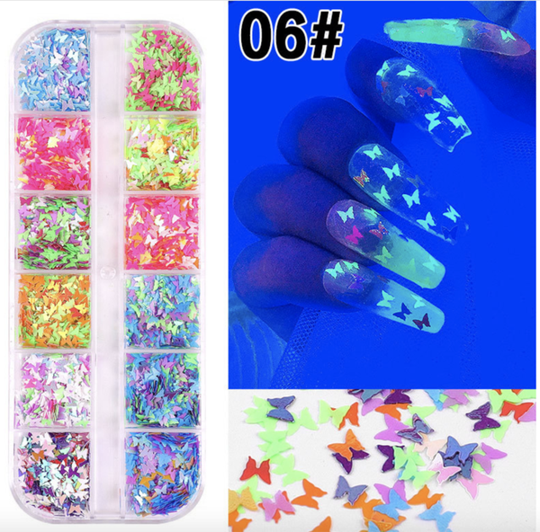 12 pcs butterfly nail decoration 6 picture