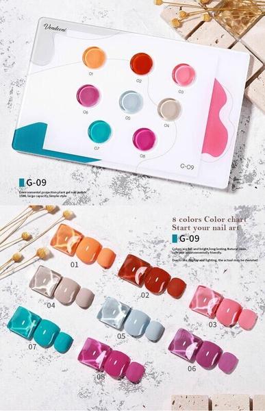 8 pcs c  x 15 ml vendeeni gel nail polish set g09 picture