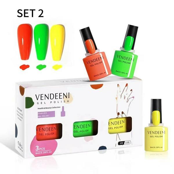 3 x 8 ml vendeeni gel nail polish set no 2 picture