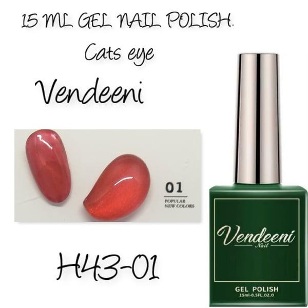 15 ml vendeeni uv led cats eye gel nail polish h43-01 picture