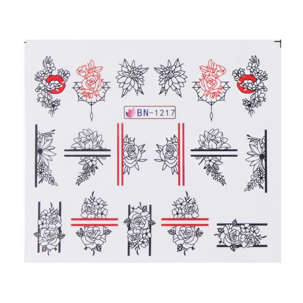 Water transfer nail sticker bn-1217 picture