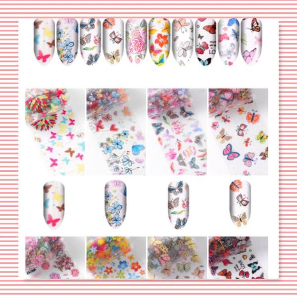 10 pcs transfer nail foils box set - num 2 picture