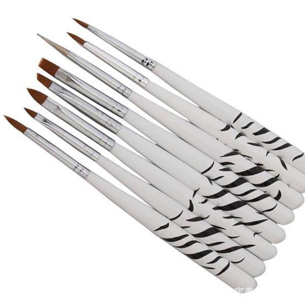 Pcs zebra manicure brush picture