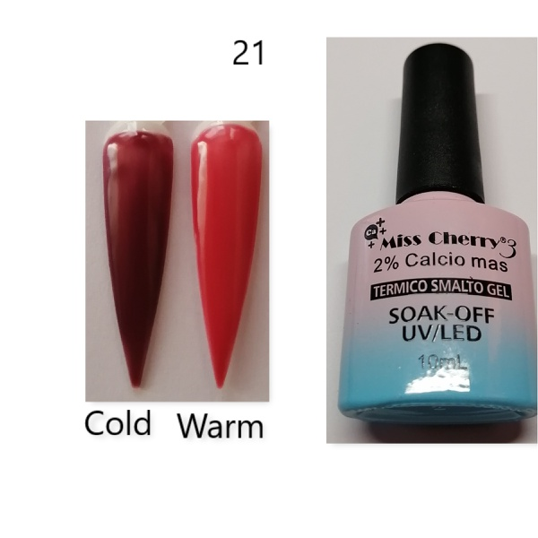 Miss cherry 10 ml color uv/led changing gel n21 picture