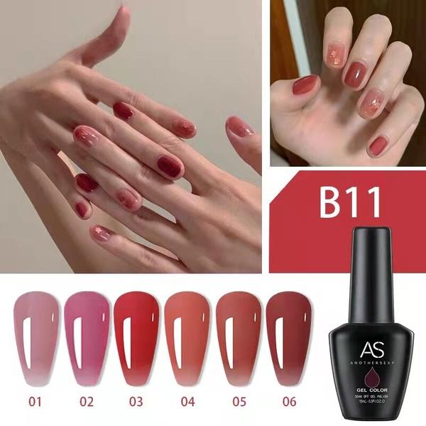 6 x 15 ml as uv/led gel nail polish set b11 picture