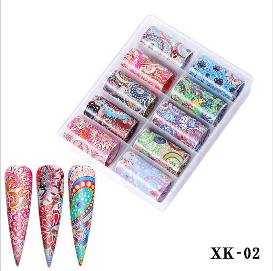 10 pcs nail foils no xk02 picture