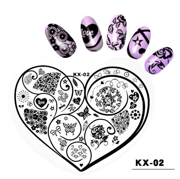 Plastic heart image plates kx02 picture