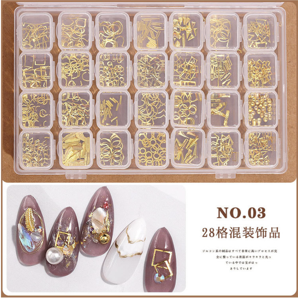 28 grids box nail decoration box n0 3 picture