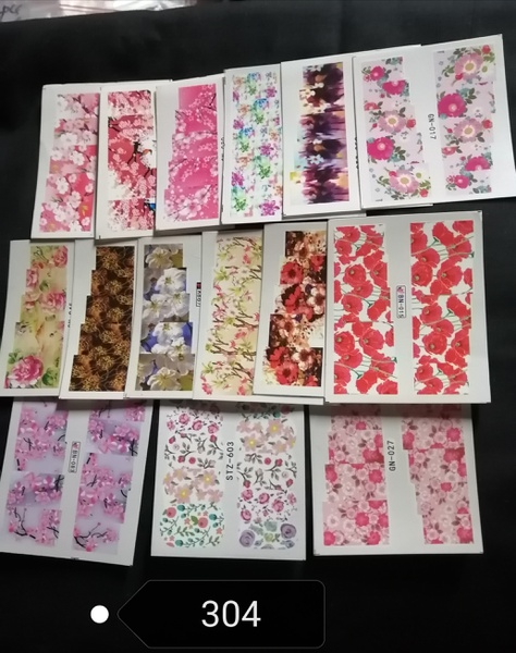 15 pcs water transfer stickers -no 304 picture