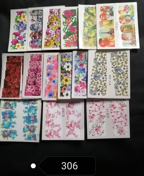 15 pcs water transfer stickers -no 306 picture