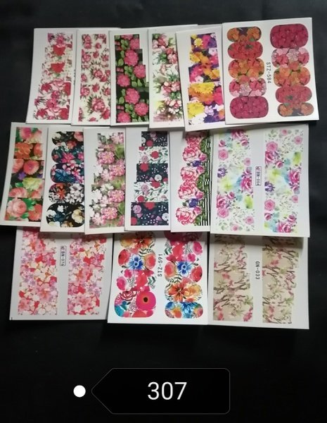 15 pcs water transfer stickers -no 307 picture