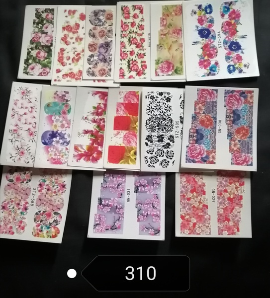 15 pcs water transfer stickers -no 310 picture