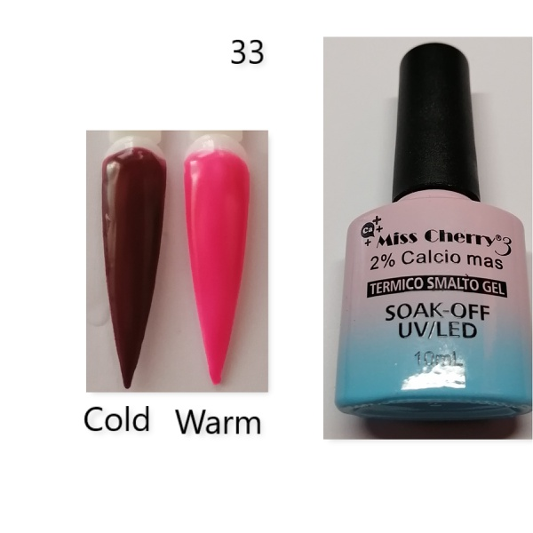 Miss cherry 10 ml color uv/led changing gel n33 picture