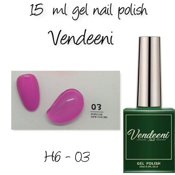 15 ml vendeeni uv led gel nail polish h6-03 picture