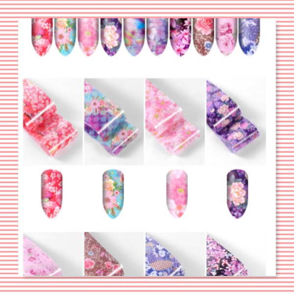 10 pcs transfer nail foils box set - num 4 picture