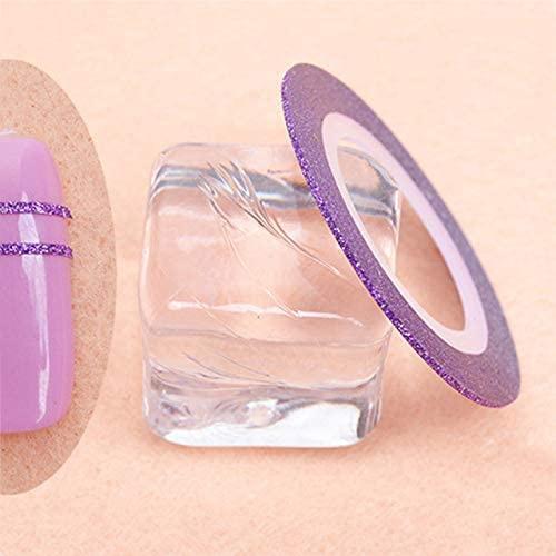 Striping glitter role - purple picture
