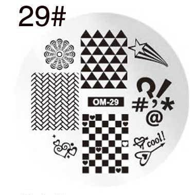 Round stamping plates om29 picture