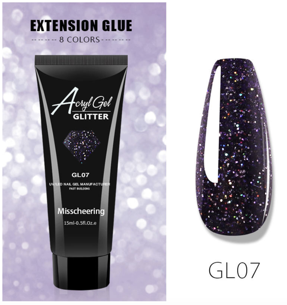 15 ml glitter poly gel no 7 picture