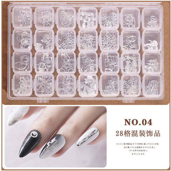 28 grids box nail decoration box n0 4 picture