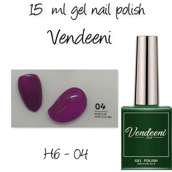 15 ml vendeeni uv led gel nail polish h6-04 picture