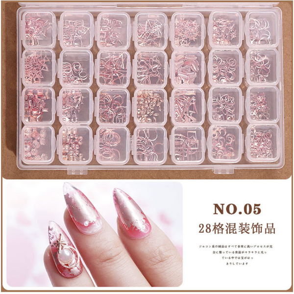 28 grids box nail decoration box n0 5 picture