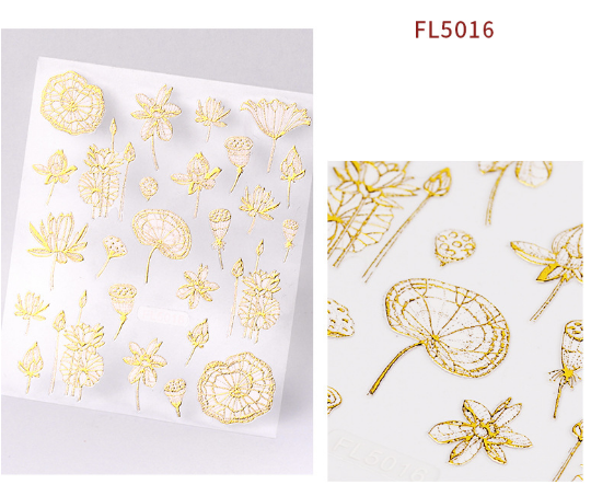 3d hot stamping sticker  gold picture