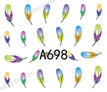 Water transfer nail sticker a698 picture