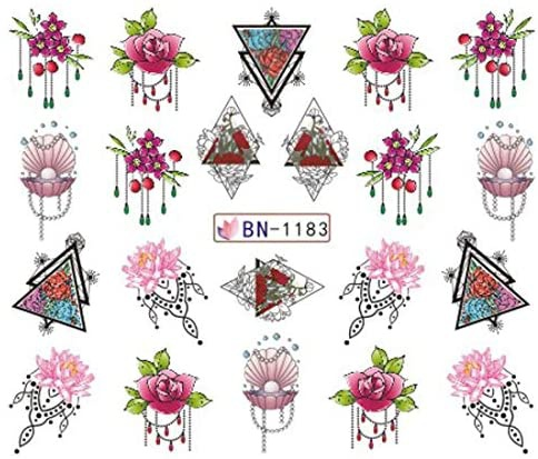 Water transfer nail sticker bn-1183 picture