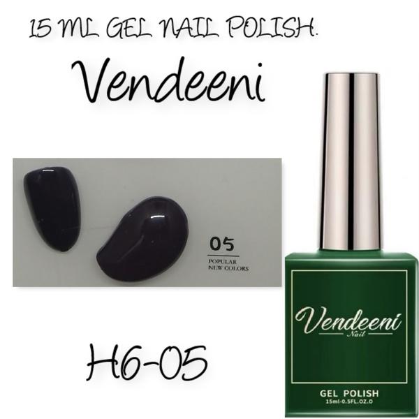 15 ml vendeeni uv led gel nail polish h6-05 - dark purple picture